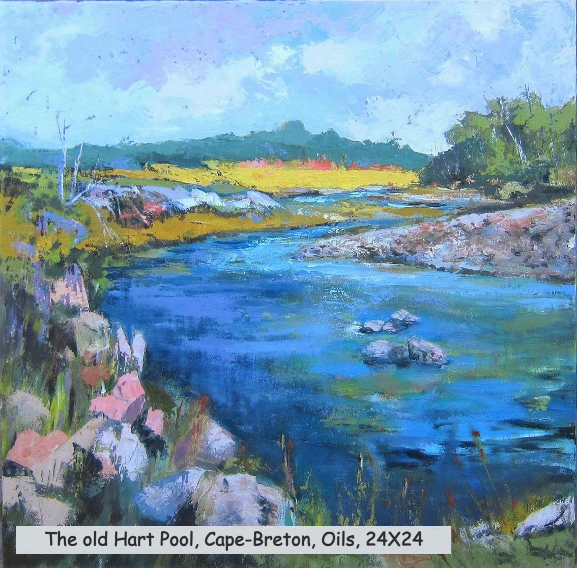 The old Hart Pool, Cape-Breton, oils, 24
