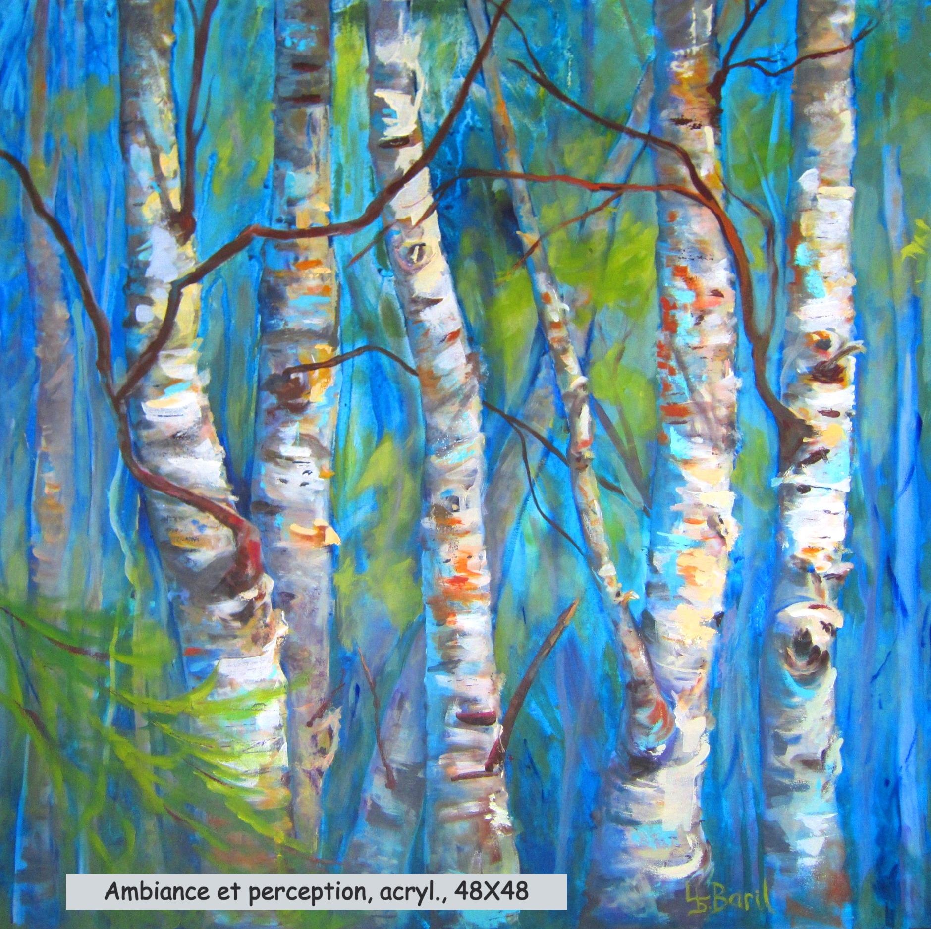 Ambiance et perception, acrylique, 48X48