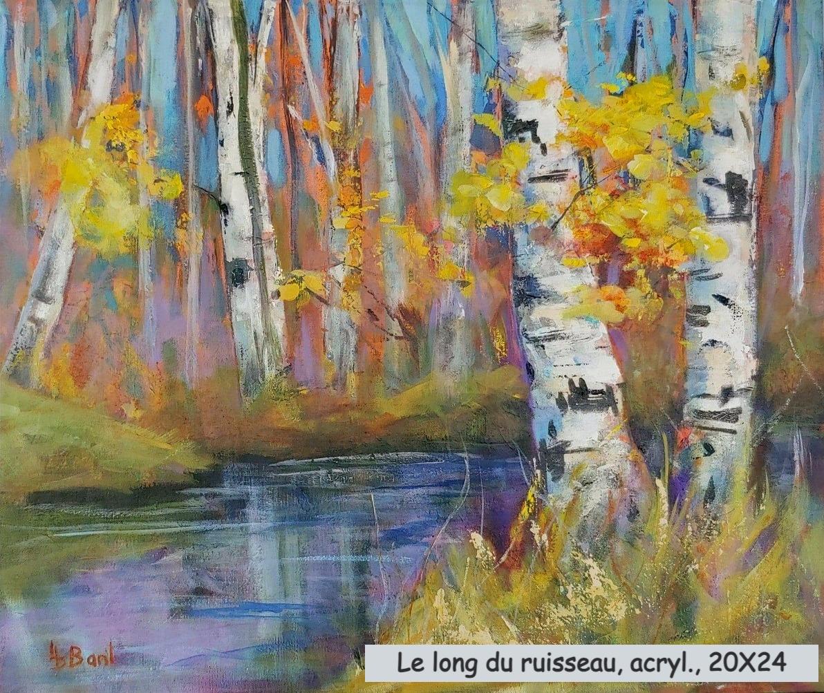 Le long du ruisseau, acrylique, 20X24