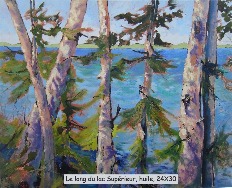 Le long du lac Supérieur, huile, 24X30