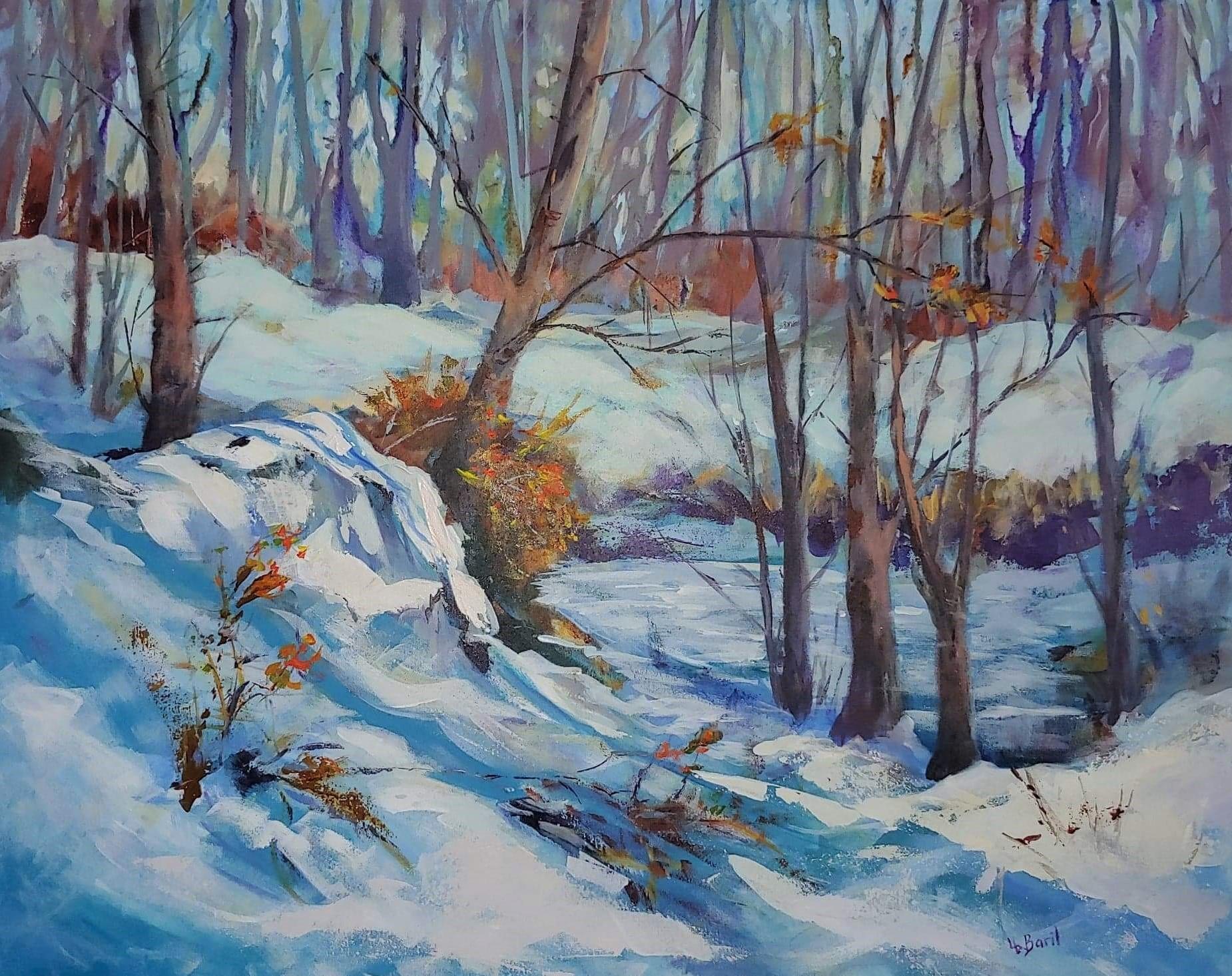 Winter near the swamp, acrylic, 24X30
