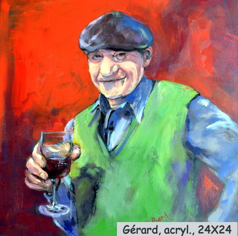 Gérard, acrylique, 24X24