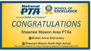 Broken Arrow & SMNorth Named National PTA School of Excellence