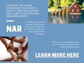 FREE Diversity and Fair Housing learning modules from NAR for MEMBERS!