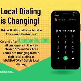 Local Dialing is Changing!