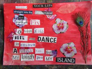 August summer workshops: Chance Poem Collage