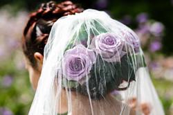 Close up Rose Hair with Veil