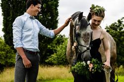 couple horse shoot