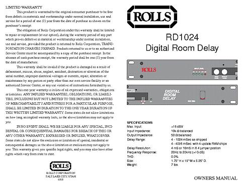 ROLLS DELAY RD1024