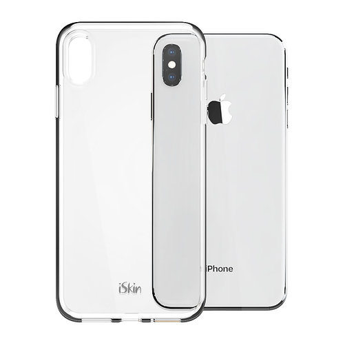 """iSkin Claro iPhone XS Max 6.5"""" back view on Silver iPhone XS Max 6.5"""""""
