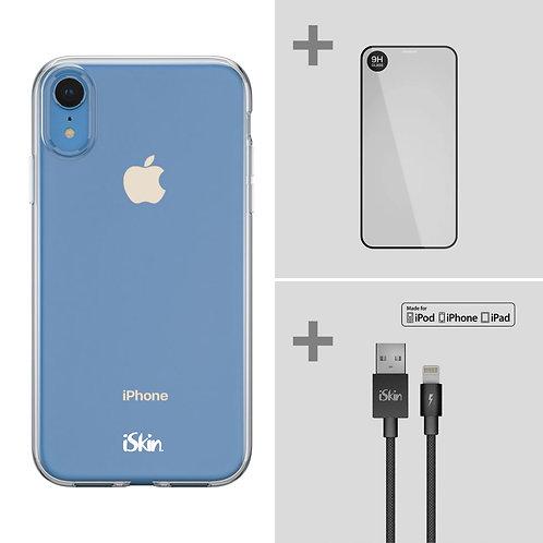 "Claro+Titan Screen Protector+Lightning Cable Bundle (iPhone XR 6.1"")"