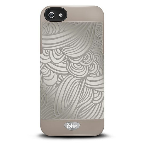 iSkin Vibes Swirl for iPhone 5/5S/SE -Grey