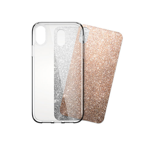 """iSkin Claro and Glam Inserts (Silver and Rose Gold) for iPhone X, XS 5.8"""""""