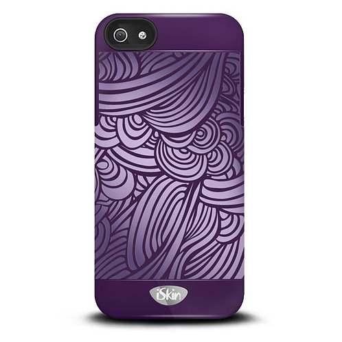 iSkin Vibes Swirl  for iPhone 5/5S/SE - Purple