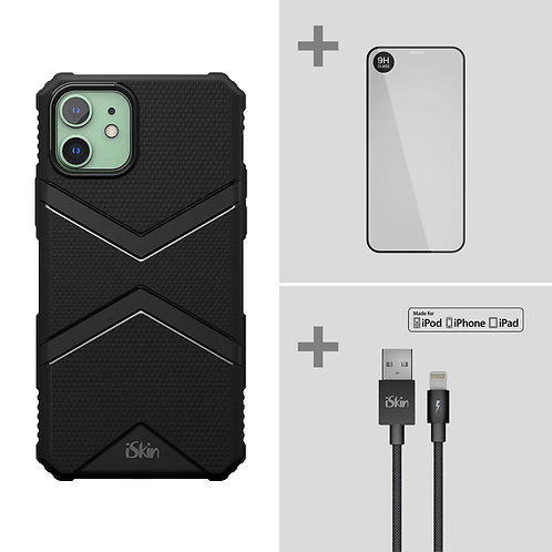 "EXO + TITAN Screen Protector + Cable  Bundle for iPhone 11 (6.1"")"