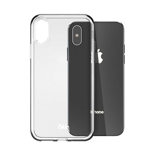 """iSkin Claro Clear Case for iPhone X/XS 5.8"""" Space Grey"""