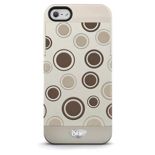 iSkin Vibes Polka Dot for iPhone 5/5S/SE- Brown/Beige