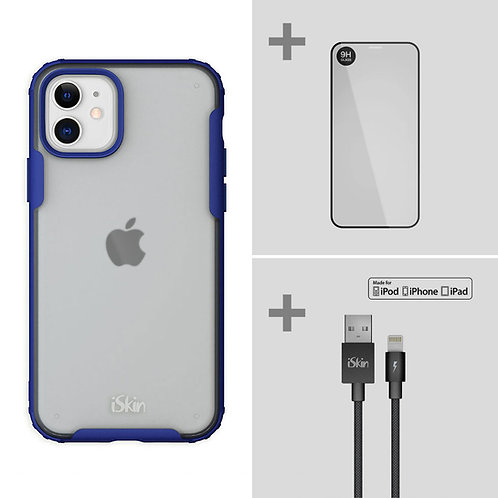"""Aura (blue) + TITAN Screen Protector + Cable  Bundle for iPhone 11 (6.1"""")"""