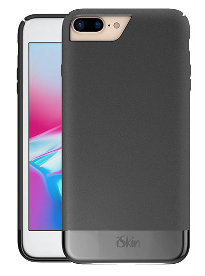 iSkin Aura for iPhone 8 Plus- The slim black case for iPhone 8