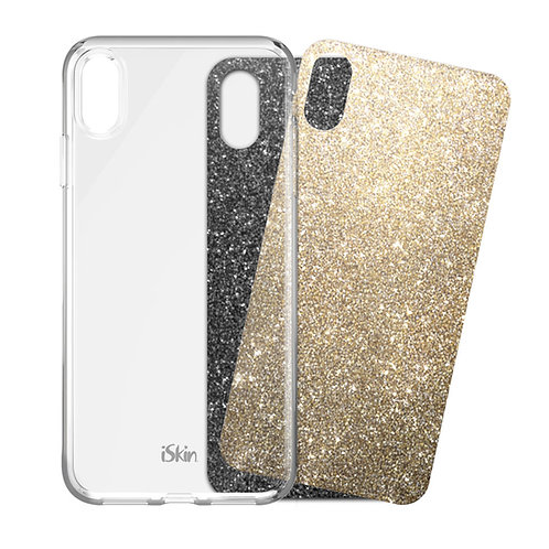 iSkin Claro Clear Case and Glam Night Out Film Inserts for iPhone XS Max