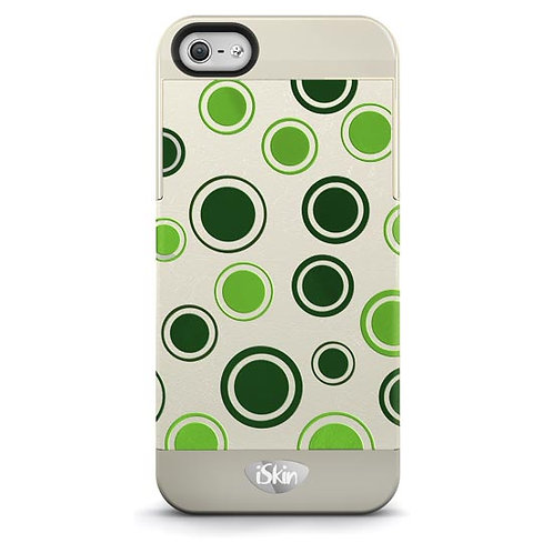 iSkin Vibes Polka Dot for iPhone 5/5S/SE- Green/Beige