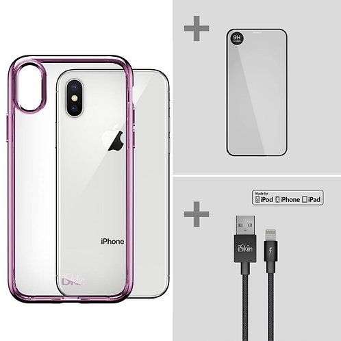 "Claro SE+Titan Screen Protector+Lightning Cable Bundle (iPhone X/XS 5.8"")"