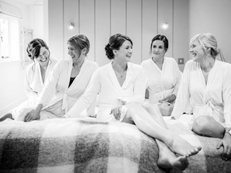 Bride and bridesmaids hair and makeup by Kirsty Fraser hair and makeup artist