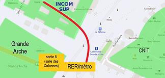 plan la defense RER Colline de larche INCOM rond.png