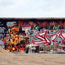Berliner Mauer mit einzigartigen Graffiti's.