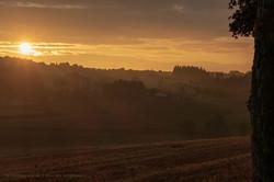 Sonnenaufgang über Seiffen