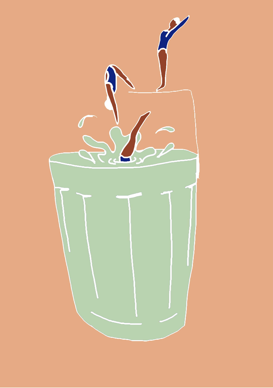copo nadadoras