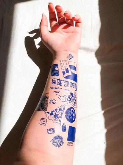 cartela tattoo temporária