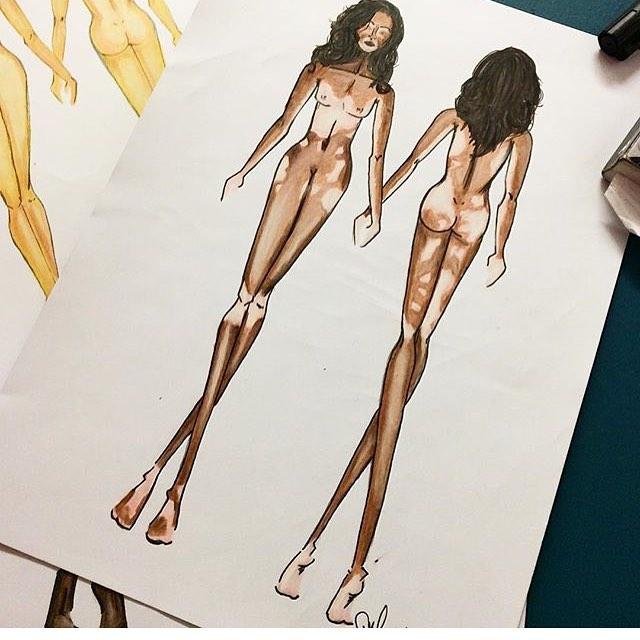 Ilustracion Para La Supermodelo Winnie Harlow