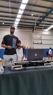 DJing at a Basketball Tournament