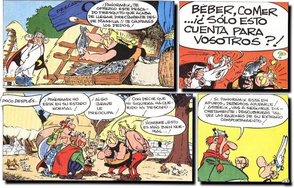 Panorámix se enfurece y Astérix aprende a hacer presentaciones =)