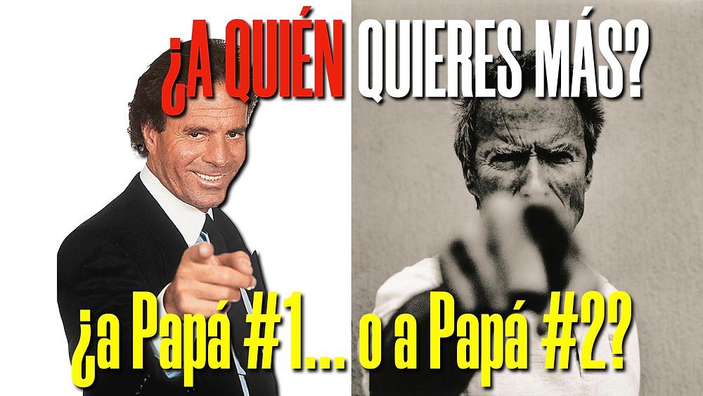 Papi Julio y Papi Clint.