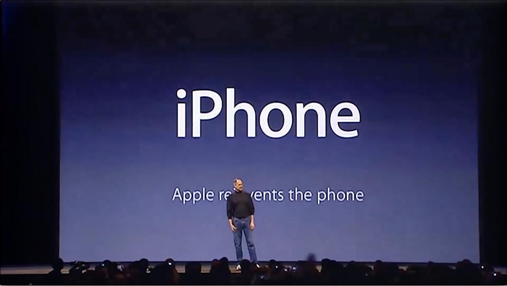 Blog de Diego Marqueta. Captura de Steve jobs presentando el primer iPhone.