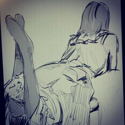 Friday Night Live Model Drawing #art🎨 #art🌎 #art #art✏ #art❤#artist #artwork #artist4shoutout #art