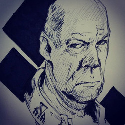 Drew an angry old guy during lunch