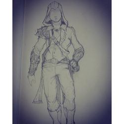 Pencil sketch Assassin's Creed doodles