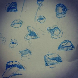 Been working on some mouth shapes lately. These are just doodles but they are good to practice