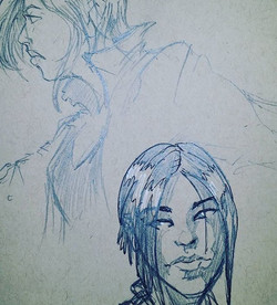 Working out some ideas for a Ghost in the Shell piece