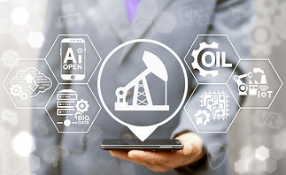Oil industry 4.0 integration concept. AI