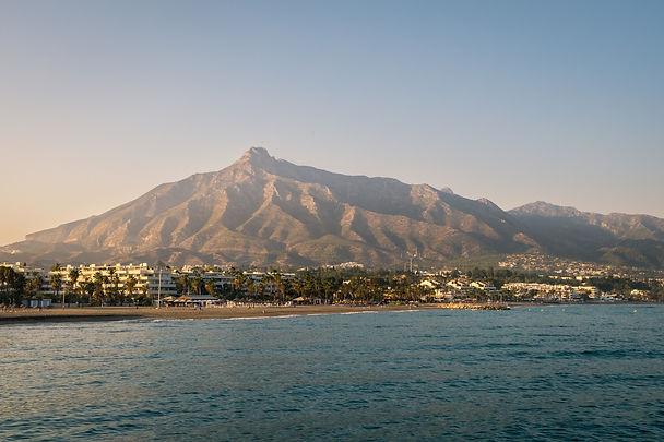La Concha Mountain in Marbella, Spain.jp