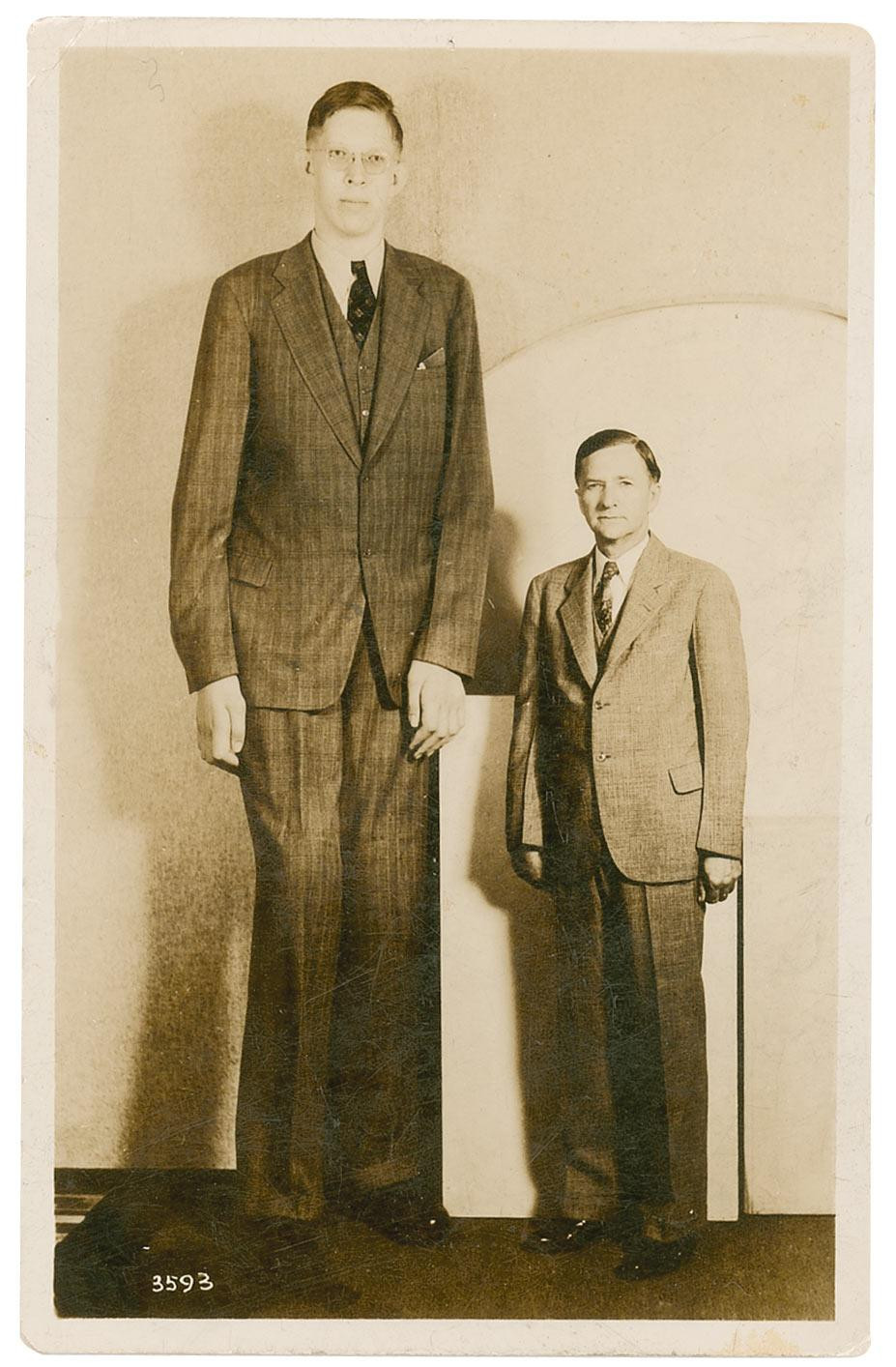 Robert Wadlow with his father