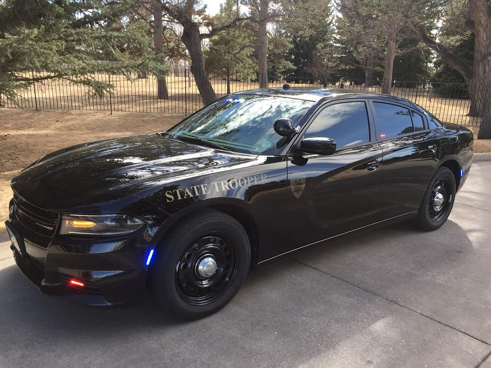 Subdued police cruiser