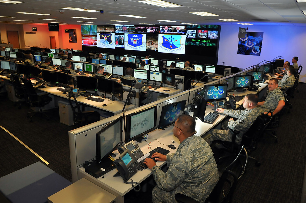 Cyber Airmen from the 24th Air Force at Joint Base San Antonio-Lackland, Texas. (Courtesy 24 AF/PA, 2014)