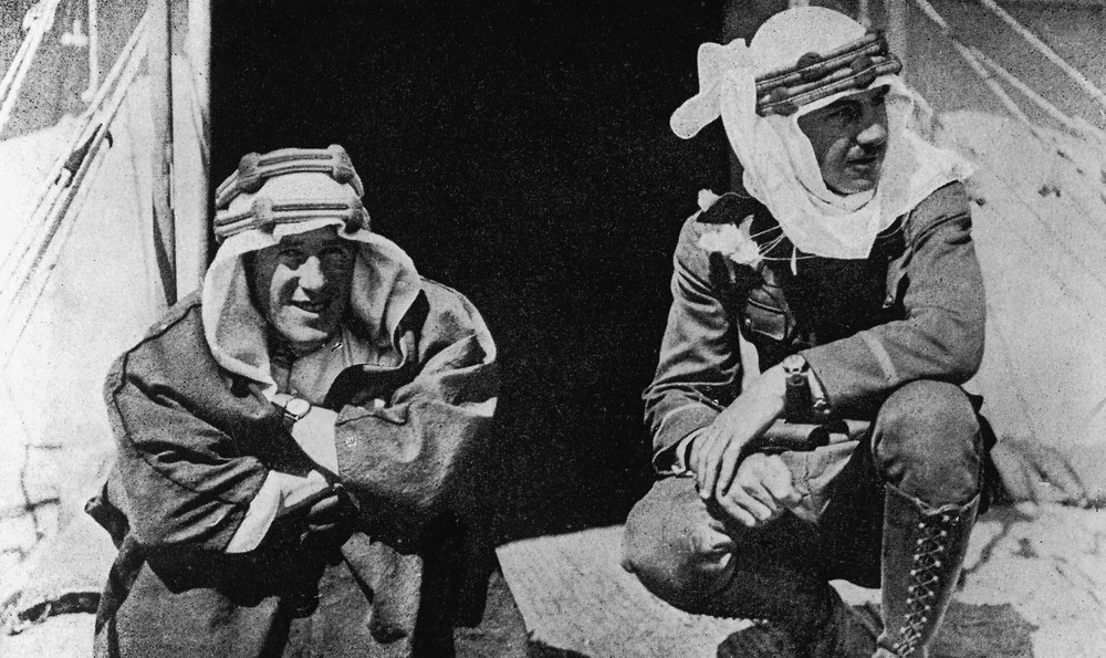 T.E. Lawrence (right) with U.S. journalist Lowell Thomas