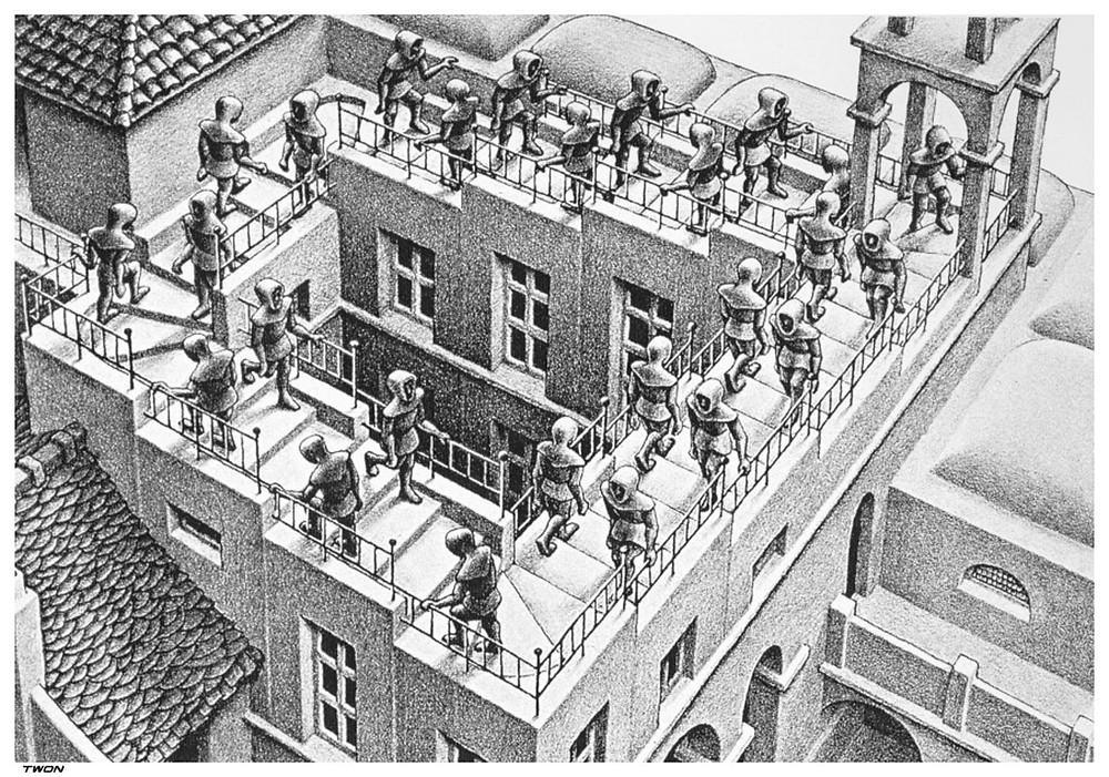 Ascending and Descending, M.C. Escher