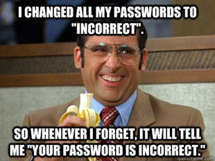 Incorrect: the new password123